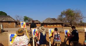 THE ELEPHANT ART SAFARI & THE VILLAGE ART SAFARI IN ZIMBABWE
